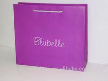 Custome logo printed shopping bag gift bag paper bag with handle
