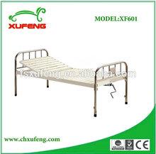 Simple design Backrest cheap steel manual hospital bed