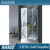 HS-SR866 bathroom curved glass adjustable 8mm glass shower enclosure