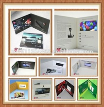 3.5/4.3TFT,LCD bussiness advertisement 4.3inch video brochure for advertisement, gift, education
