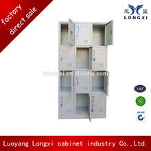 Twelve doors knock down steel shoes locker, shoe display cabinet