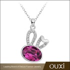 OUXI Rhodium Plated Necklace,Accessories Wholesale made with Swarovski Elements 10806