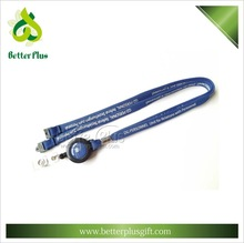 High quality polyester tube lanyard with retractable reel