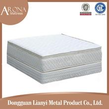China supplier five star iron bed frame removable hotel mattress sets gel memory foam, hamburger hotel mattress
