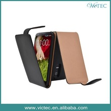 Hot Ultra Thin Black PU Leather Flip Cover Case for LG G2
