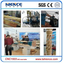 High quality automatic cnc wood lathe machine tool CNC1503 for baseball bat legs, baseball bat, baluster