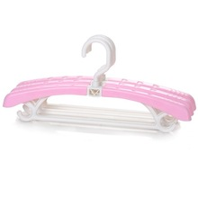 light pink color folding 100% new material anti slip plastic clothes hanger