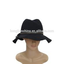Lady fedora cheap faux wool felt hat