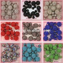 Wholesale Selling Cheap Big Small Full Rhinestones Crystals Shambhala Polymer Clay Ball Design Double Stud Earrings