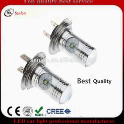Best quality Canbus H7 led car fog spot light, high power 12v 4pcs Cre h7 20w Led car fog bulb