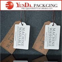 2014Fashion hot sale garment hang tag/price hang tag /name hang tag