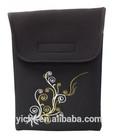 Elegant Embroidery Neoprene Black Color 10 inch Laptop bag / Laptop Sleeve