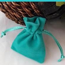 Mini Navy Blue Velvet Pouch For Gift