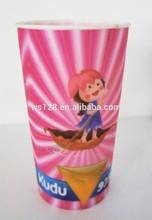 Gobelet en plastique de qualité alimentaire 3d/jeunesse, dur tasses en plastique/verre en plastique avec le logo imprimé