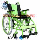 ZWW213 Zhiwei NC Green Color Manual mobility wheelchair Lifting Arm Fixed Leg