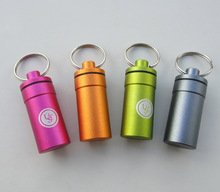 metal pill box with key chain