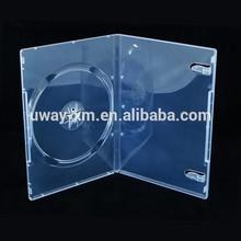 PP 9mm single super clear DVD case/9mm dvd box