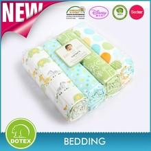 Organic/Gots Swaddle Blankets Newborn Cotton Baby Muslin Blanket Spain