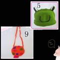 kız bebek çocuk örgü tığ hayvan şapka fotoğrafı pervane yeşil kıyafetler