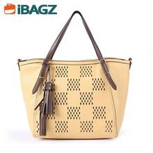 Wholesale Fashion Yellow PU Leather Women Handbag