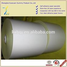 Top quality Custom printable wood free self-adhesive paper roll