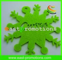 Taglio laser feltro spessore 3mm verde decorazioni di natale feltro interno/fuori porta