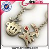 Hot selling letter design 2d shape metal key ring