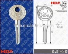 BML-2R brass blank key with nickel plated