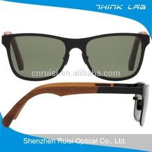 cheap promotional sunglasses wooden temple sunglass frame