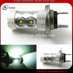 Best price Canbus h7 car LED fog light bulb lamp,high power H7 50W 12V LED fog light for car hyundai