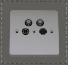 Class A UK Type TV FM SAT SAT wall socket hidden camera