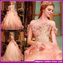 2015 European latest leisurely high-end beaded pink wedding dress