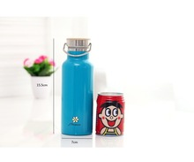 25oz stainless steel bottle with bamboo cap,Vacuum Insulated Stainless Steel klean kanteen water bottle with bamboo lid