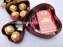 heart shape carton gift box/chocolate packing gift box