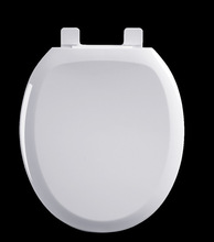 Bemis Plastic Round Toilet Seat with Easy Clean and Change Hinge White plastic toilet seat cover