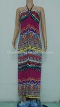 Fashion print soft fabric women dresses