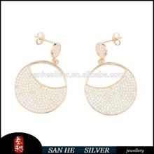 Top Design CZ Jewelry Fashion 2015 Drop Earring