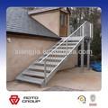 simple al aire libre prefabricada escaleras de acero