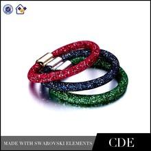 Fashion Charm Magnetic Alloy Bracelets,Crystals Stardust Bracelet