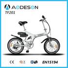 2015 China new and fashion folding bike TZ201 for europe,ce EN15194 20 inch folding electric bike
