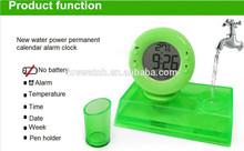 Intelligent Water-Power Clock No Batteries, Environmental, Creative Novel Gift