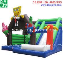 Large professional bouncy castle wholesalers; Spongebob bouncer slide for sale