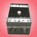Vente en gros de fournitures électriques avec 2 pouces de profondeur, quatre trous, en aluminium