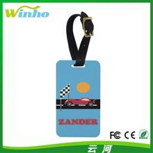 Winho China wholesale rubber luggage tag