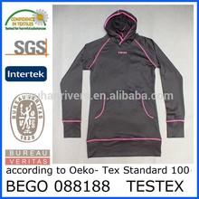 Custom polyester spandex fitness sports hoodies, Jogging sports hoodies