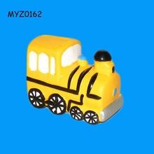 Yellow Ceramic Steam Train Bank Money Box