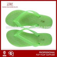 Macarons Yellow PVC Jelly Thong Sandal Light Up Flip Flops
