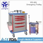 YFS-001 Professional Manufacturer From China hospital crash cart medical trolley