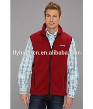 Sleeveless polar fleece vest/men vest jacket fleece