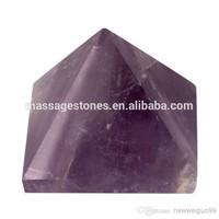 """Wholesale Natural Amethyst Engraved 1.5"""" Pyramid stone pyramid"""